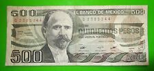 14Mar83 Quinientos Pesos $500 Banco De Mexico Q2385344 Circulated 58