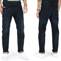 Diesel Herren Regular Slim Tapered Fit Stretch Jeans Dunkel Blau - Belther R46D8