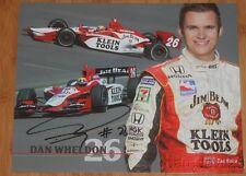 2004 Dan Wheldon signed Jim Beam Honda Dallara Indy Car postcard