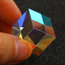 1.5cm Cube Glass Decoration Defective Cross Dichroic Prism RGB Combiner Splitter