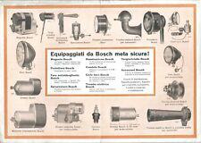 Depliant Pubblicitario BOSCH  - Accessori  Automobilia 1935 Candele Trombe Fari