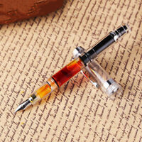 Wingsung 698 Piston Wing Sung Transparent Fountain Pen EF/F 0.38/0.5mm with Box
