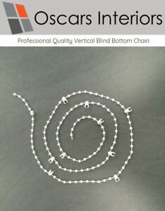 "Professional Quality 3.5"" & 5"" Vertical Blind Bottom Chain Spares/Repair Parts"