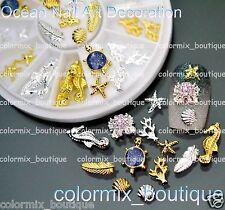 3D Beach Nail Art Decoration Ocean Life Glitter Alloy Jewelry+Wheel (SET NO.14)