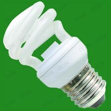 8x 14W Low Energy CFL Mini Spiral Light Bulbs ES, E27, Edison Screw, Lamp, Globe