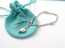 Tiffany & Co RARE VINTAGE Silver Heart Charm Bracelet Bangle!