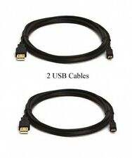 Two USB Cables for Canon A630 A650 A2100 A3000 A3100 IS FS40 FS400 SD20 SD30