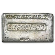 100 oz Engelhard Silver Bar - Poured Silver Bar - SKU #75964