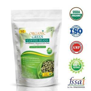 arabica Green Coffee Beans decaffeine Unroasted 225g Nutrition 100% Natural USDA