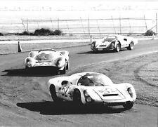 Vintage 8 X 10 1967 Daytona Porsche 910 & Ferrari 330 P4 Auto Racing Photo