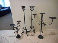 Wrought Iron Candle Candelabras