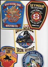 5 New Fire Patches - Set # 600   fire patch