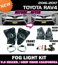 16 17 18 TOYOTA RAV4 LE Fog Light Driving Lamp Kit w/switch wiring (CLEAR)