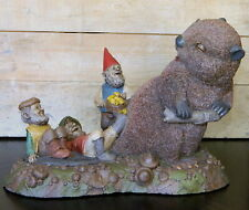 """*Edition #1 Tom Clark & Tim Wolfe Beaver Gnome """"Tailgate Party"""" 1993 / Signed"""
