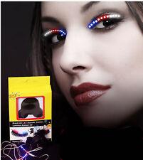 Women Colorful LED Flashing Lightening Party Fake False Eyelashes Eye lashes