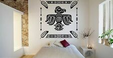 Wall Room Decor Art Vinyl Sticker Mural Decal Indian Eagle Aztec American FI1063