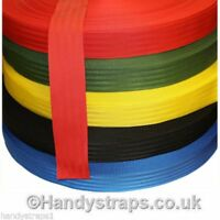 "Polypropylene Webbing 10 meter x 50mm 2""  Herringbone In Colours Handy Straps"