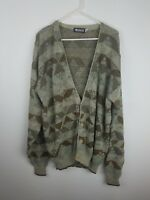Megalos Cardigan Mens SZ2XT Coogi Style Cosby Biggie Hip Hop Brown Patterned A17