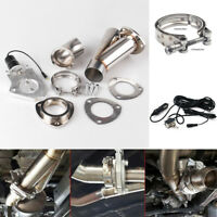 Electric Exhaust Cutout Downpipe E-Cut Out Valve System with Gear Driven Motor