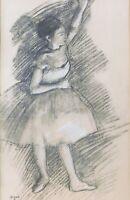 Edgar Degas, vintage Jacomet print 15 x 9 signed in plate