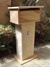 Sandstone letterbox with Limestone base and roof combination 820mm high