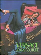 ▬► PUBLICITE ADVERTISING AD Jeans couture VERSACE 1991