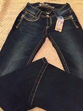 Wall Flower Junior Jeans Size 3 Luscious Curvy Boot Cut ,Contour Waist Band