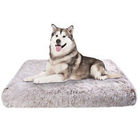 Orthopedic Super Soft Dog Bed Crate Pad Mat 3D Foam Mattress w/ Non Slip Bottom