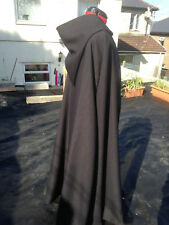 pointy hooded cloak black   more colours available (C44)