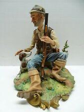 "VOLTA Italian Porcelain Capodimonte ""Hunter with Dog"" Figurine"