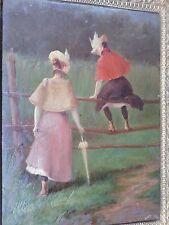 Tableau-huile-impressionniste-femmes-Collection-ami E. Goerg-proche Guys-oil