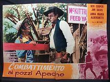 FOTOBUSTA CINEMA - COMBATTIMENTO AI POZZI APACHE - BEN COOPER - 1957 -WESTERN-03