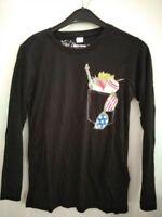 Mädchen Langarm Shirt schwarz Gr,128 / 134 Neu .