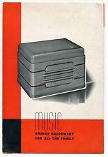 """Vintage """"Bueschers"""" Advertising Sales Brochure: Phonographs"""