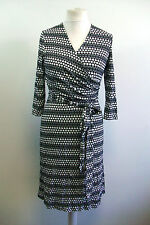 hv polo meyer HV Spot navy white wrap dress equestrian Medium Box1422 d