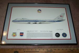 E-4B AIRPLANE PICTURE, FRAMED, #95 OF 1000, 55TH WING OFFUTT AFB, NE. *NICE*