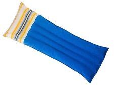 Texas Recreation Fab Foam Pool Float  Island Blue For Yellow Stripe Pillow