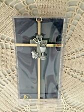 """RCIA WALL CROSS"" Designed = James Brennan 7"" H, Brass/Pewter Center  NEW in box"
