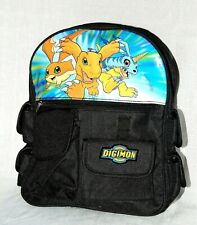 "NEW  WITH TAGS ~ DIGIMON ~~  SMALL  CANVAS  BACKPACK  12"" X 10"" APPROX."