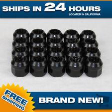 14x1.5 lug nut - black - open end steel - M14x1.5 - Set of 20 wheel lugnuts