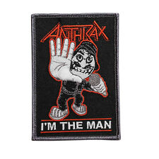 Anthrax I'm The Man Embroidered Iron On Patch - Music Rock Band - 153-E