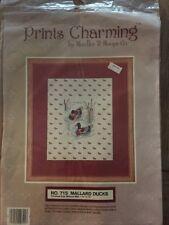 Prints Charming Needles N Hoops No. 715 Mallard Ducks Duck Cross Stitch Kit New
