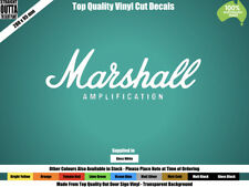 MARSHALL AMP DECAL, HEAVY METAL, ROCK, BASS, GUITAR  - WHITE or COLOURS