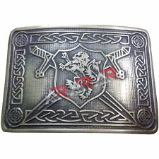 AAR Men Scottish Kilt Belt Buckle Rampant Lion Antique Finish Kilt Pin Socks