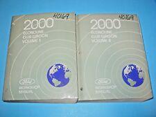 2000 Econoline Club Wagon Manual Volume 1 and 2