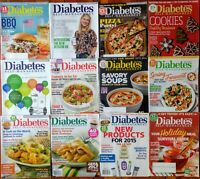 Diabetes Self Management magazine (lot of 12) back issues from 2014-2018