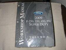 2009 Ford Truck Workshop Manual 2 Volume Set OEM F-250, 350, 450, 550 Super Duty