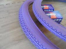 Pair of Beach Cruiser PURPLE 26x2.125 Bicycle Tires & Inner tubes Diamond 26""