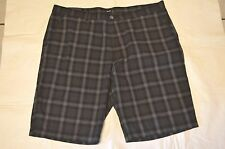 NWT Men's Clothing Hugo Boss Short Pant Gray Black Clyde Sz 38 Logo Short Chino