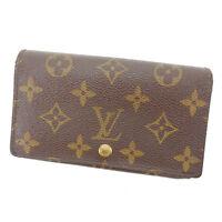 Louis Vuitton Wallet Purse Monogram Brown Woman Authentic Used Y4347